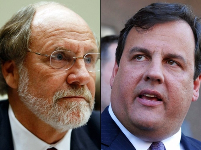090709 Jon Corzine Chris Christie split