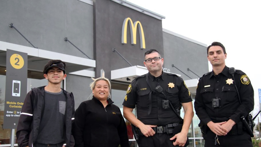 """Employees at a McDonald's in Lodi, Calif., called police after a woman asked them to hide her and later mouthed """"help me."""""""