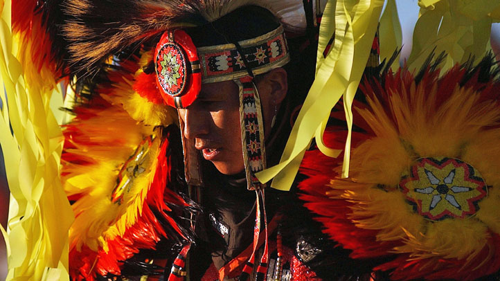 Native American at a Pow Wow