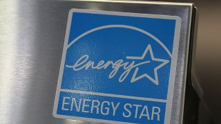 An Energy Star label is displayed on a brand new refrigerator at a Best Buy store March 26, 2010 in Marin City, California.