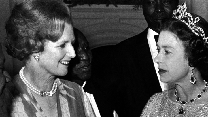 Zambia Queen Elizabeth II with Margaret Thatcher