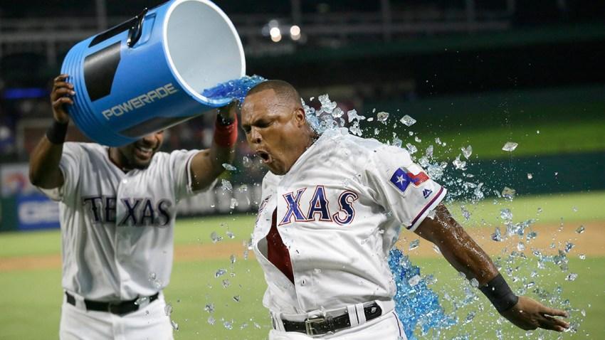 APTOPIX Athletics Rangers Baseball