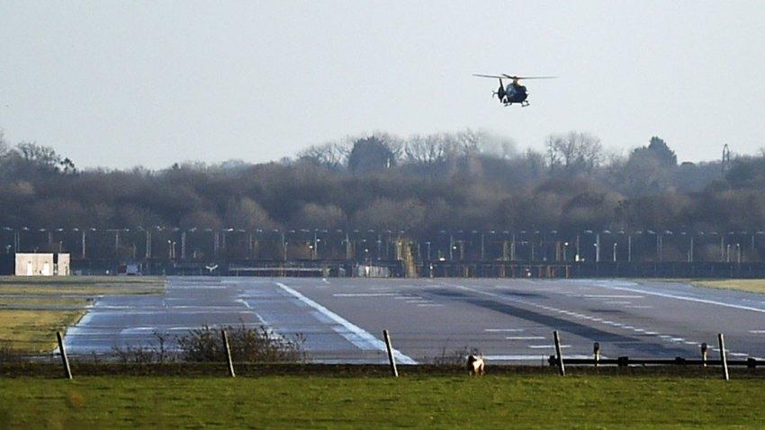 Britain Gatwick Airport Drones