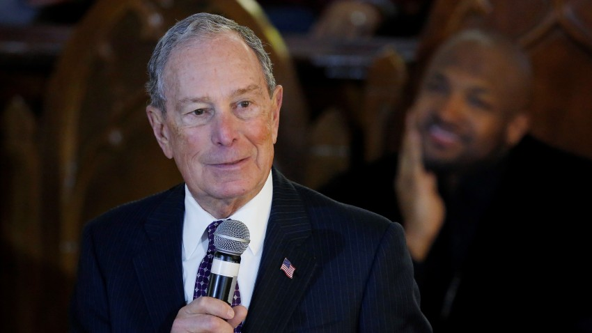 Michale Bloomberg speaks in Oklahoma