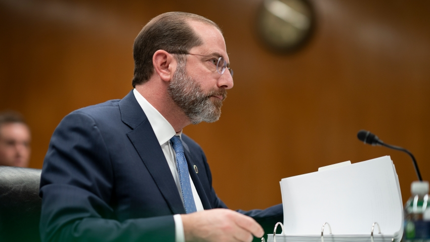 Secretary of Health and Human Services Alex Azar testifies before a Senate Appropriations subcommittee on President Donald Trump's budget request for fiscal year 2021, on Capitol Hill in Washington, Tuesday, Feb. 25, 2020.