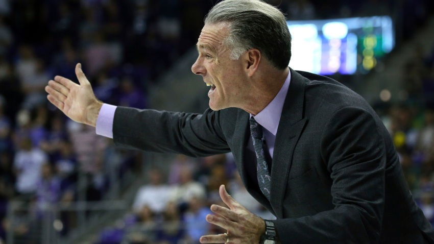 Coach Jamie Dixon during a college basketball game