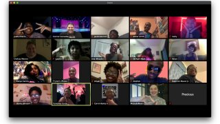 This photo shows high school seniors who attended a virtual prom via Zoom on April 16, hosted by the Baton Rouge Youth Coalition.