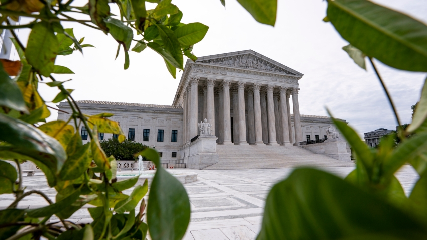 In this June 15, 2020, file photo, the Supreme Court is seen in Washington, DC.