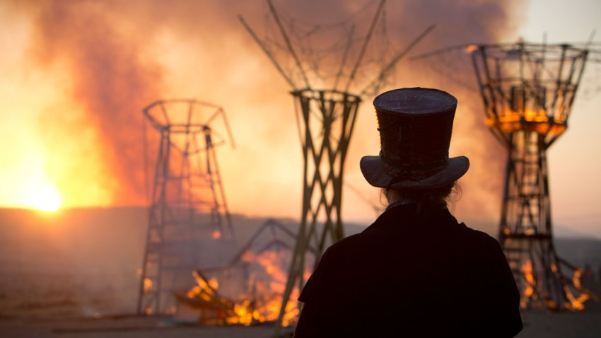 Mideast Israel Burning Man