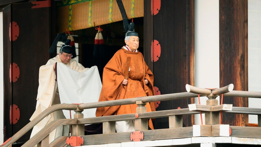 APTOPIX Japan Emperor Abdication