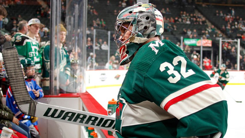 Alex Stalock #32 of the Minnesota Wild comes off the ice before the game against the Dallas Stars at the Xcel Energy Center on Jan. 18, 2020 in Saint Paul, Minnesota.