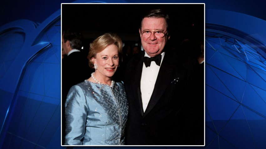 Anne and John Marion at a party hosted by the Cliburn Foundation at the Worthington Hotel in Fort Worth, Texas.