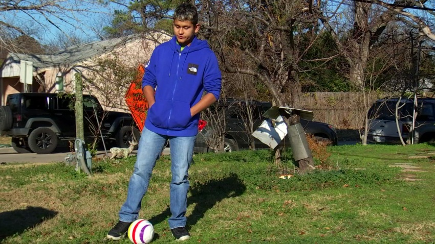Ricardo Castaneda, 19, a visually impaired athlete from Fort Worth, hopes to make the Blind Soccer National Team