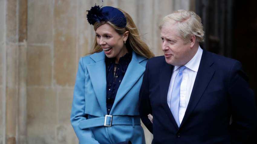 In this Monday, March 9, 2020, file photo, Britain's Prime Minister Boris Johnson and his partner Carrie Symonds arrive to attend the annual Commonwealth Day service at Westminster Abbey in London.
