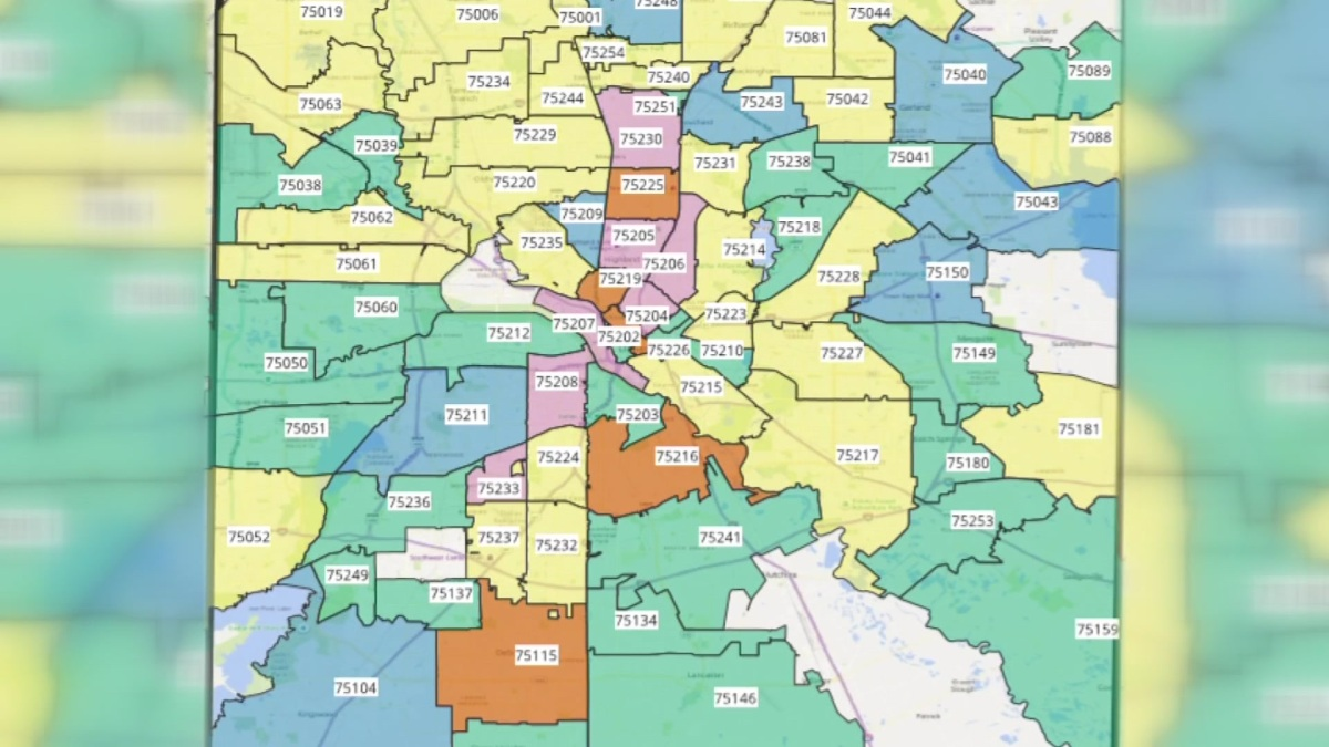 Dallas Zip Code Map Dallas County Coronavirus Count by Zip Code – NBC 5 Dallas Fort Worth