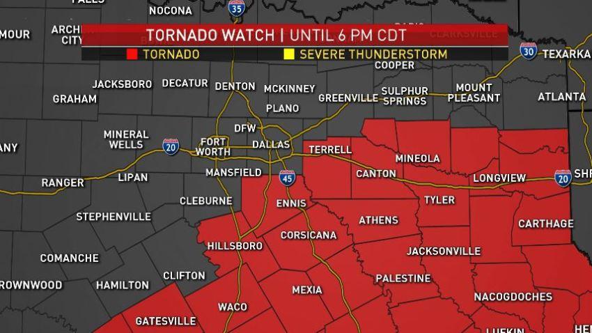 [DFW Image] Tornado Warning April 6 2019