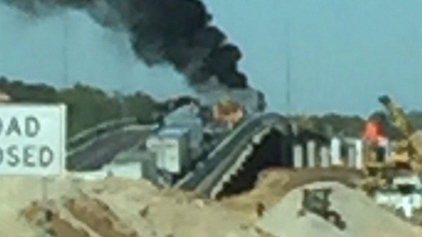 9 Vehicle Crash Shuts Down SB, NB I-35E in Corinth