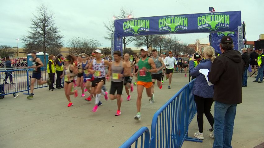 Runners made their way to the starting line of the 42nd annual Cowtown Marathon before dawn Sunday, each with a story of what brought them this far and what they hoped would carry them across the finish line.