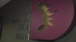DISD logo board room