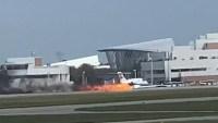 WATCH: Dramatic Footage of Plane Crash-Landing, Skidding Down Runway