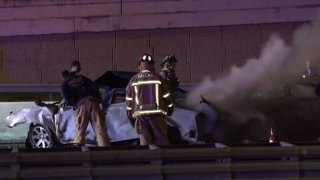 Texas Department of Public Safety troopers were called at about 3 a.m. to the crash in the northbound lanes of the Dallas North Tollway near I-635.