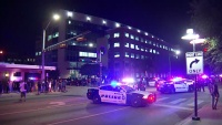 Protestors Rally at Dallas Police Headquarters Before Marching Through Downtown Streets