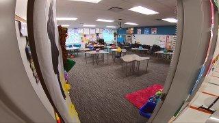 Dallas ISD empty classroom