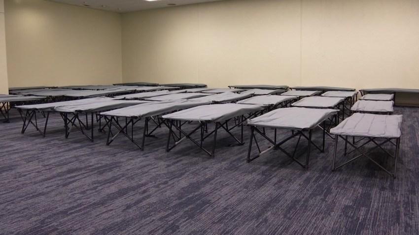 Dallas homeless shelter setup