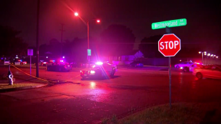 The scene of a incident that left an officer injured and a suspect dead in the 2500 block of S. Westmoreland Road in Dallas Saturday, May 16, 2020.