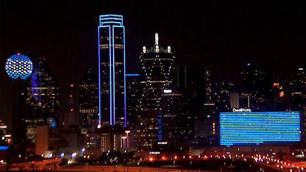 Dallas Skyline Will Light Up Blue to Support Essential Workers During COVID-19 Pandemic
