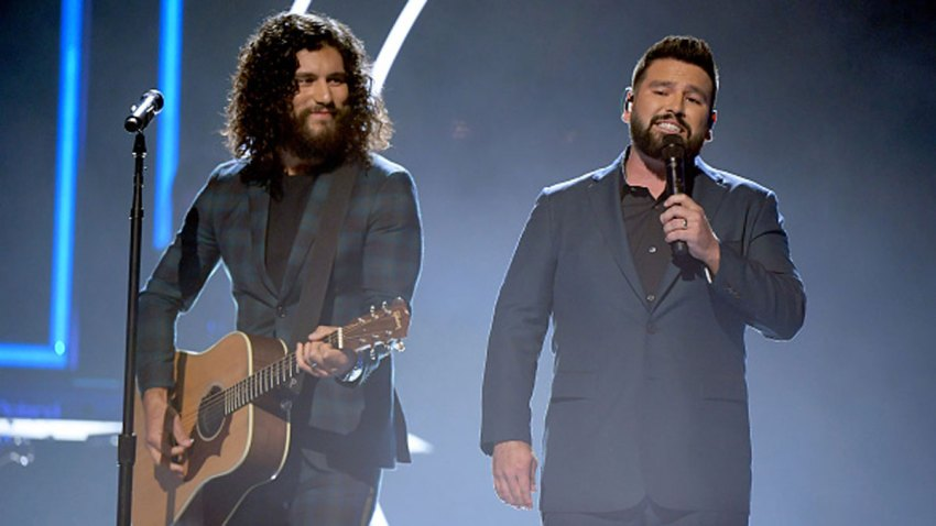 Honorees Dan Smyers and Shay Mooney of Dan + Shay perform onstage during the 2019 CMT Artist of the Year at Schermerhorn Symphony Center on Oct. 16, 2019 in Nashville, Tennessee.