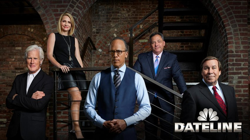 Dateline NBC's (l-r) Keith Morrison, Andrea Canning, Lester Holt, Josh Mankiewicz and Dennis Murphy.