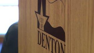 Denton city sign