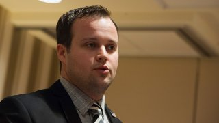 In this Feb. 28, 2015, file photo, Josh Duggar speaks during the 42nd annual Conservative Political Action Conference (CPAC) at the Gaylord National Resort Hotel and Convention Center in National Harbor, Maryland.