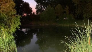 A man in his 30s was pronounced dead Saturday morning after his vehicle left the roadway and went into a pond, Fort Worth officials say.
