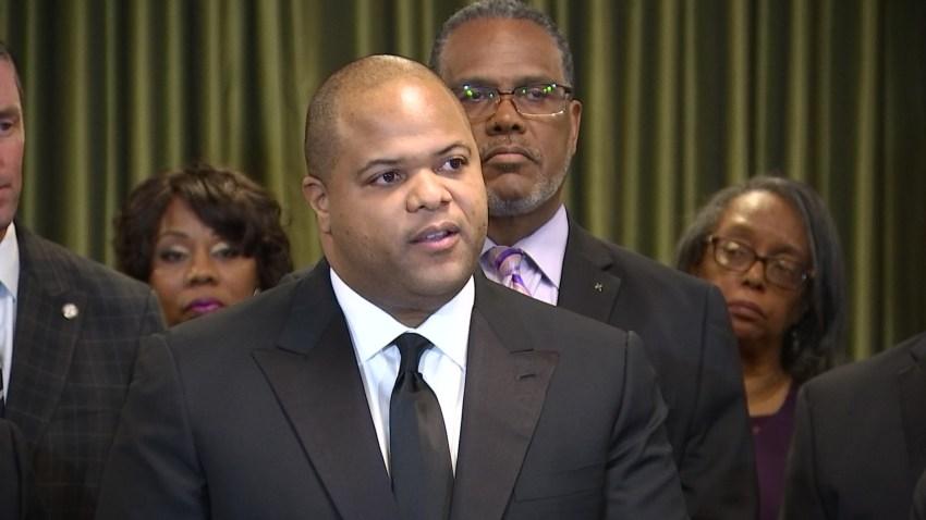 Dallas Mayor Eric Johnson on Saturday, Jan. 18, 2020.