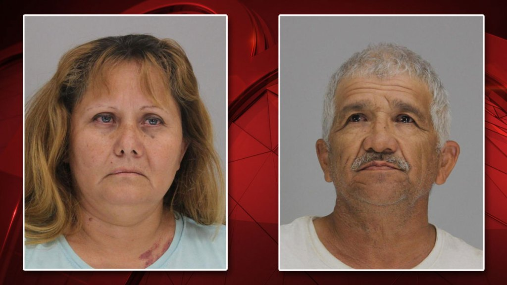 Esmeralda Lira, left, and Jose Balderas, right, face charges abandoning or endangering a child with imminent danger of bodily injury.
