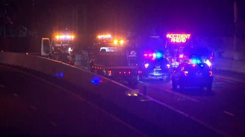 dallas north tollway crash delay