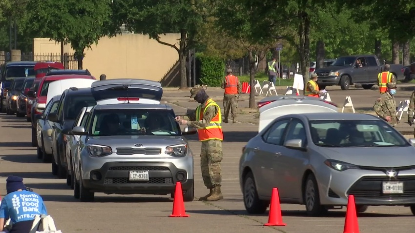 The largest North Texas mobile food pantry yet in this coronavirus disaster was staged Thursday at Dallas Fair Park by the North Texas Food Bank (NTFB)