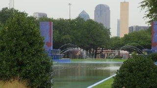 Fair Park with skyline