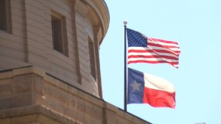 Flags at Texas Capitol 122115