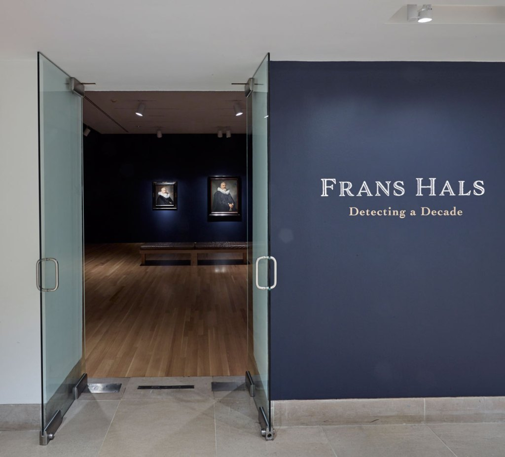 Entrance to Frans Hals: Detecting a Decade exhibit at the Dallas Museum of Art.
