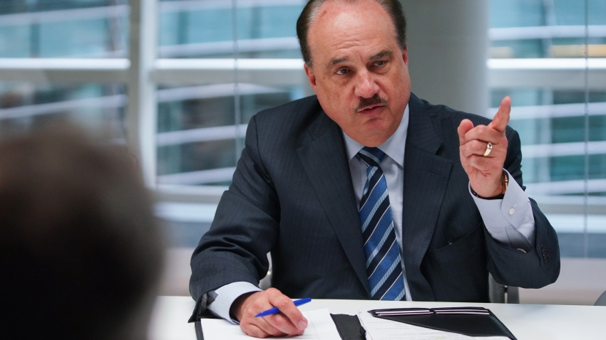 Larry Merlo, president and chief executive officer of CVS Health Corp., speaks during an interview in New York, on Thursday, May 9, 2019.