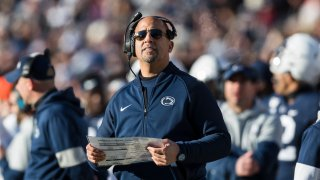 Head coach James Franklin of the Penn State Nittany Lions.