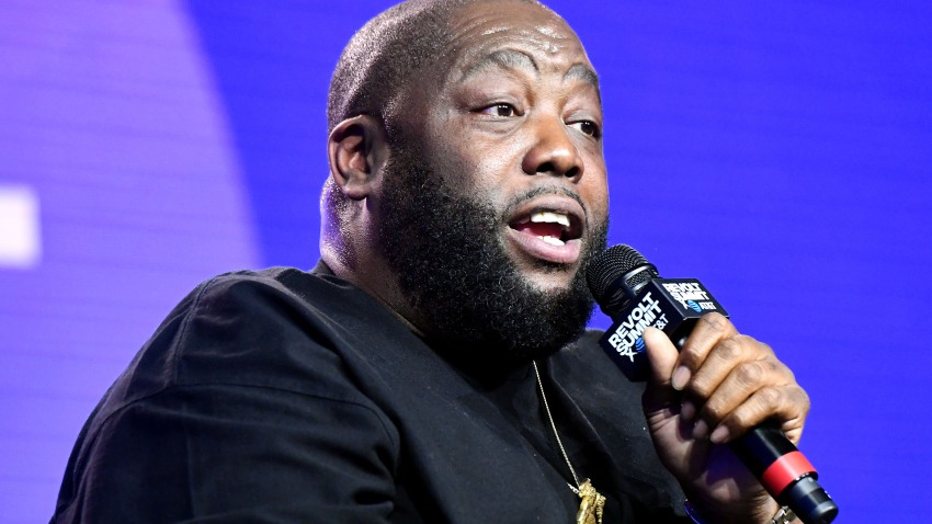 A file photo of Killer Mike from Oct. 25, 2019 in Los Angeles, California.
