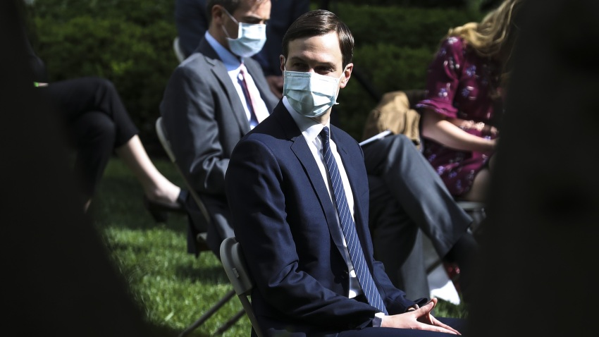 Jared Kushner, senior White House adviser, during a press briefing in the Rose Garden of the White House in Washington, D.C., U.S., on May 11, 2020.