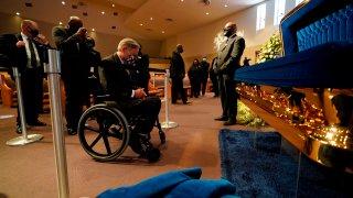 Gov. Greg Abbott visits George Floyd memorial