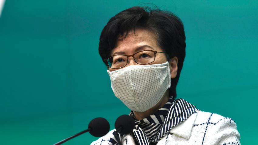 Hong Kong Chief Executive Carrie Lam Holds Press Conference