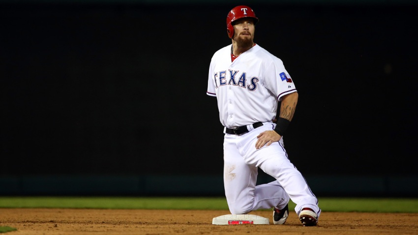 Hamilton Stretches After Hit 7th Inning