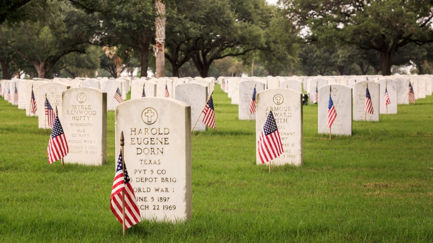 WW1 veterans laid to rest at Ft. Sam Houston National Cemetery in San Antonio, Texas.